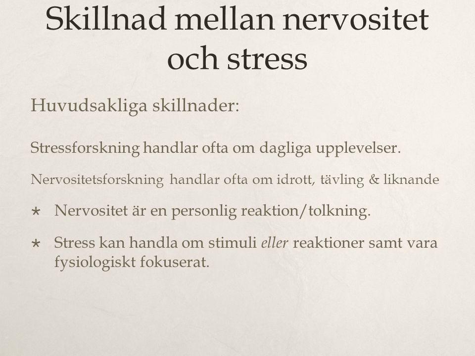 Skillnad mellan nervositet och stress