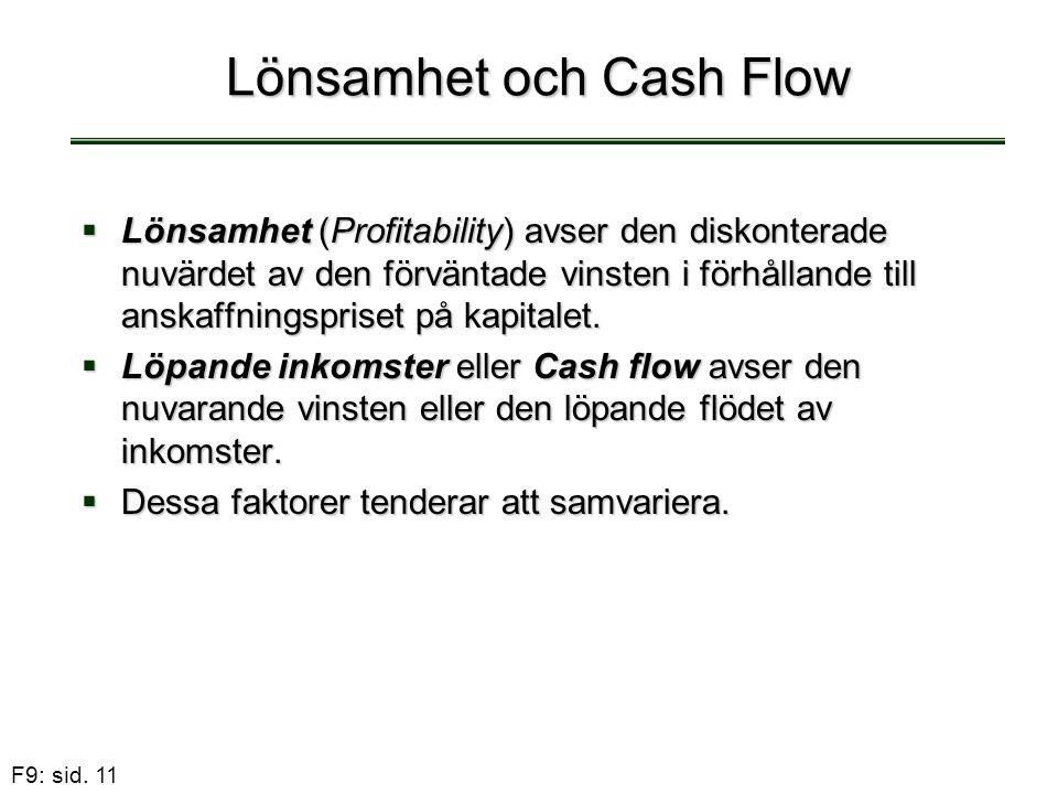 Lönsamhet och Cash Flow