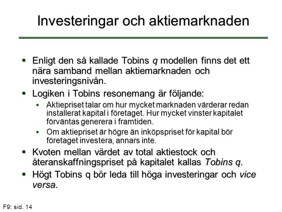 Investeringar och aktiemarknaden
