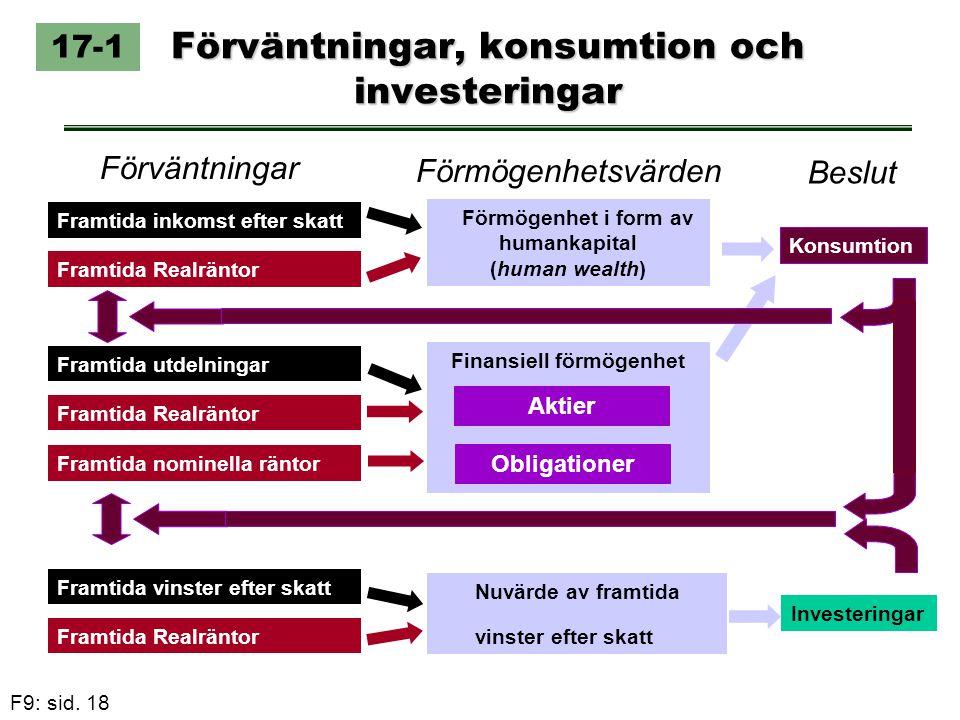 Förväntningar, konsumtion och investeringar