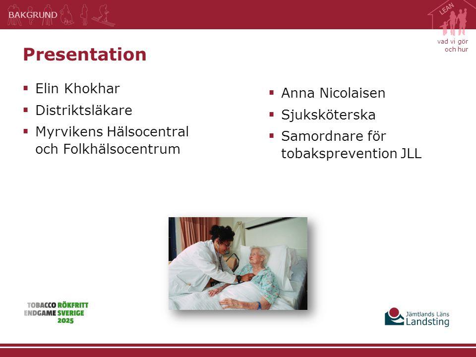 Presentation Elin Khokhar Anna Nicolaisen Distriktsläkare
