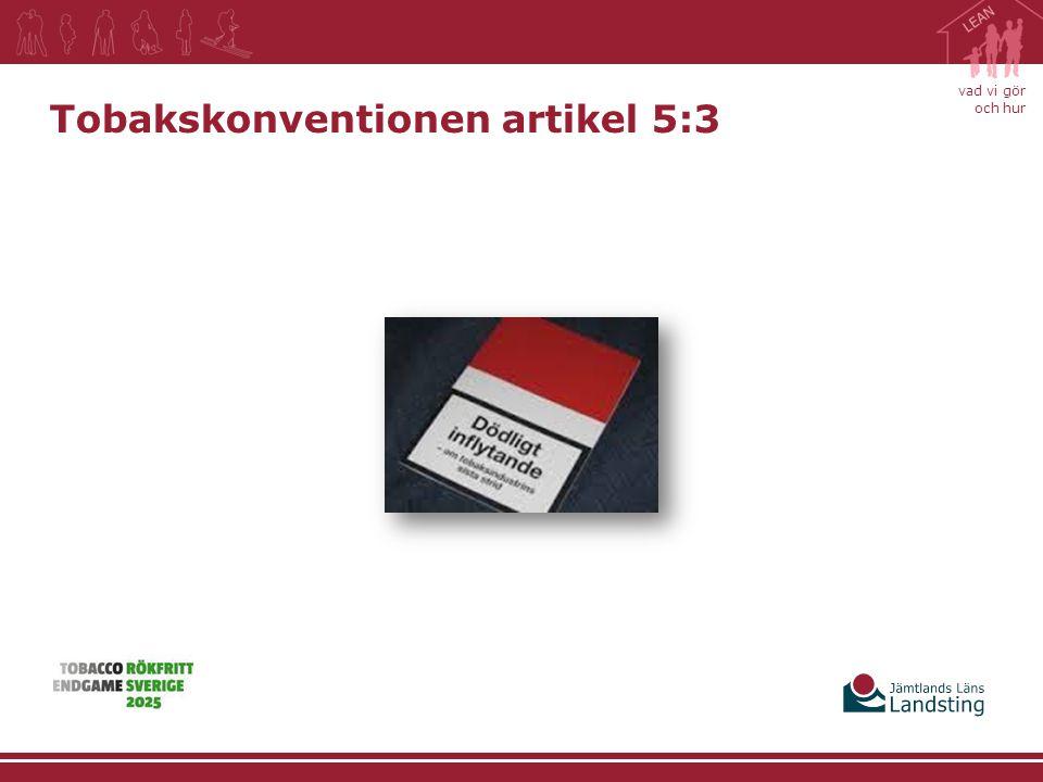 Tobakskonventionen artikel 5:3