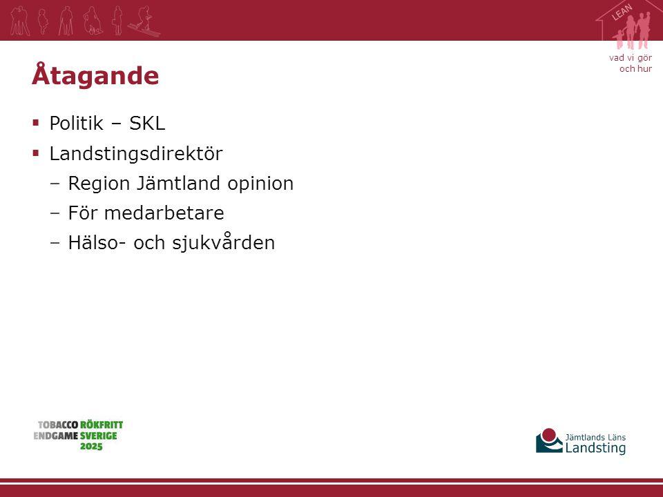 Åtagande Politik – SKL Landstingsdirektör Region Jämtland opinion