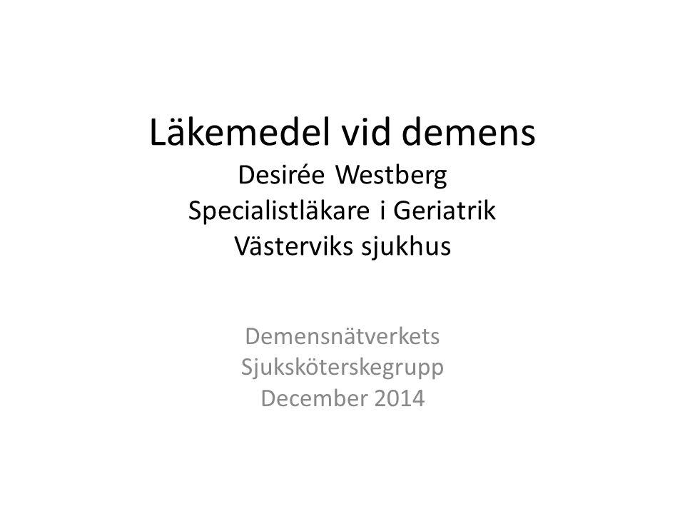 Demensnätverkets Sjuksköterskegrupp December 2014
