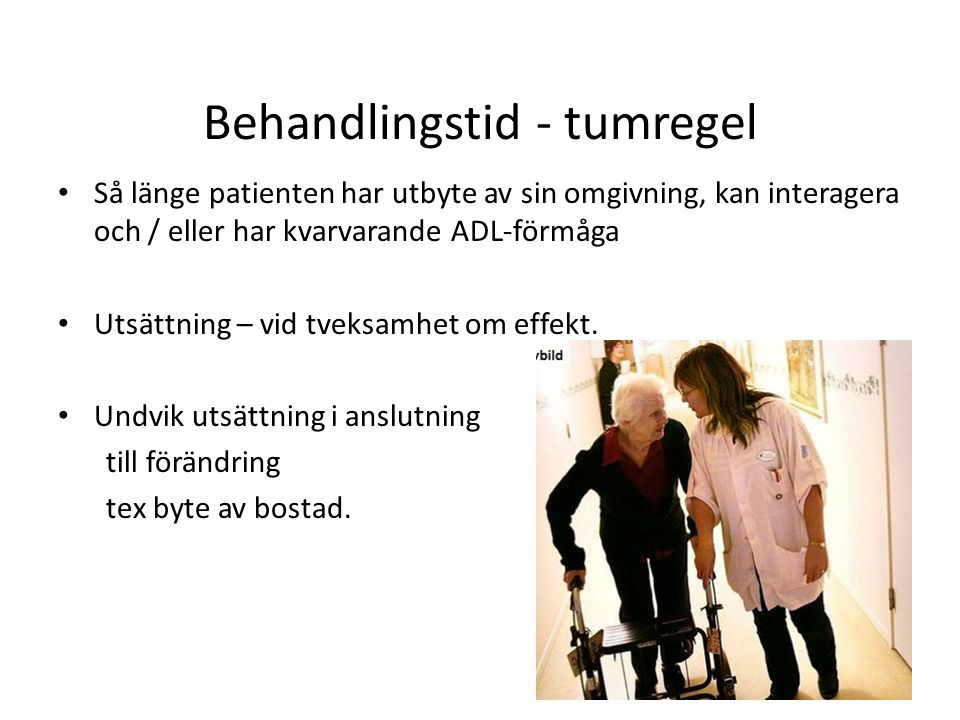 Behandlingstid - tumregel