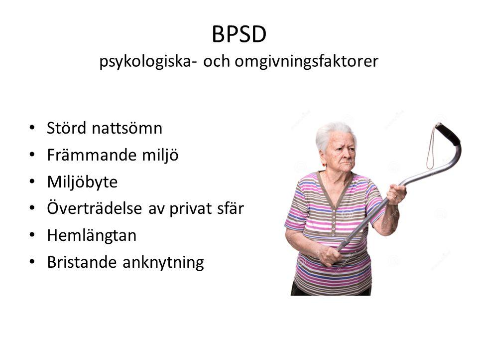 BPSD psykologiska- och omgivningsfaktorer