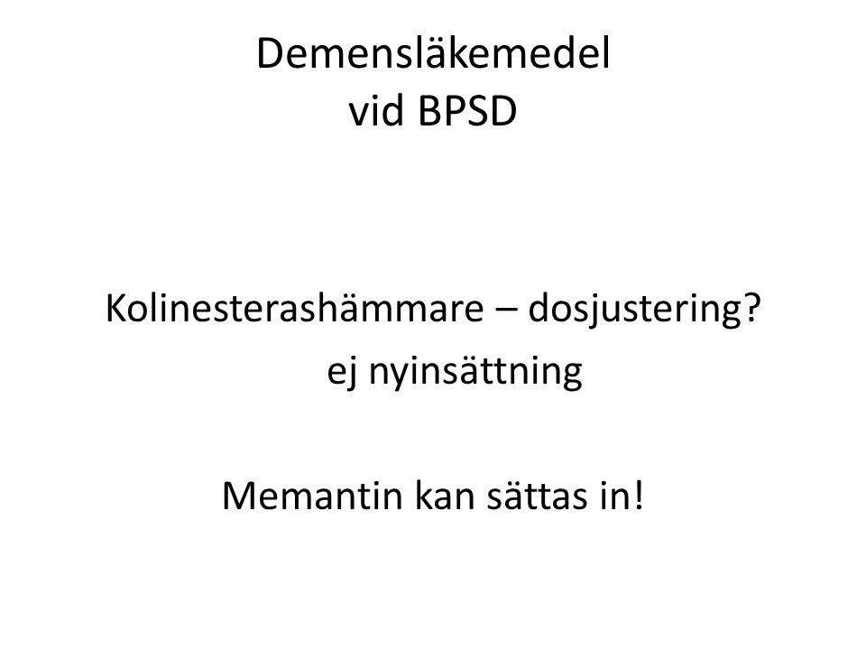 Demensläkemedel vid BPSD