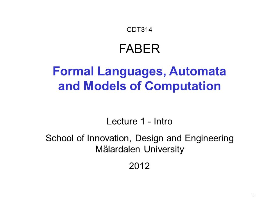 Automata computability and formal languages
