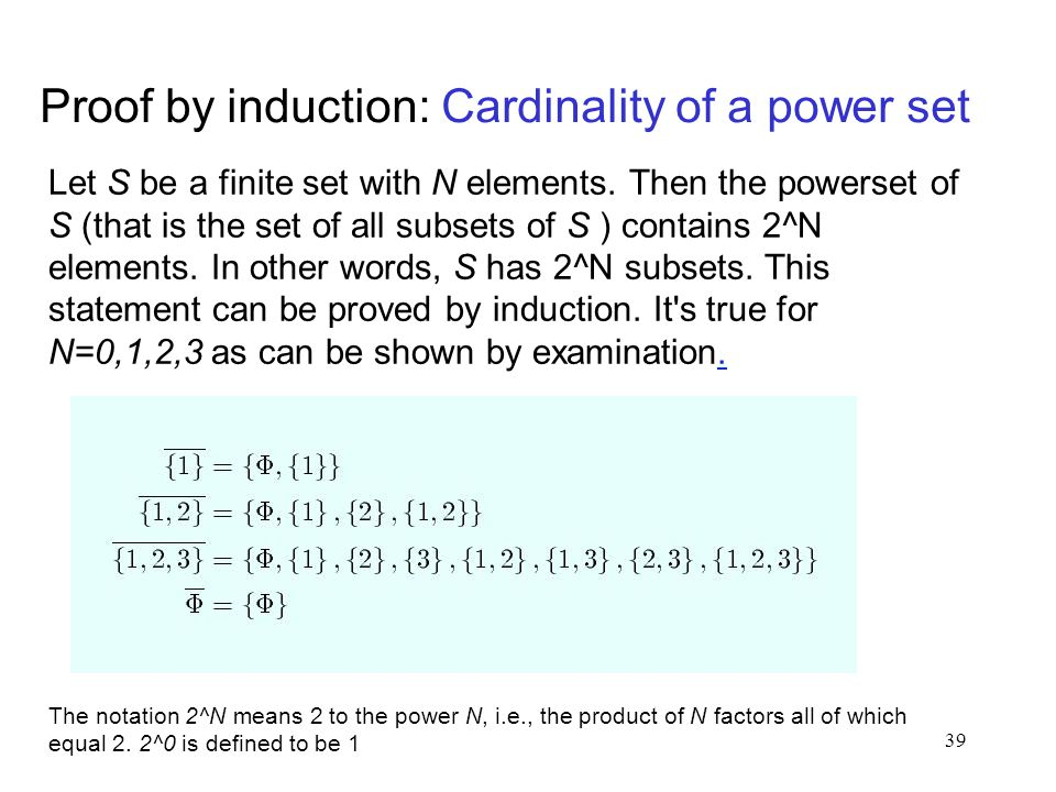 Proof by induction: Cardinality of a power set