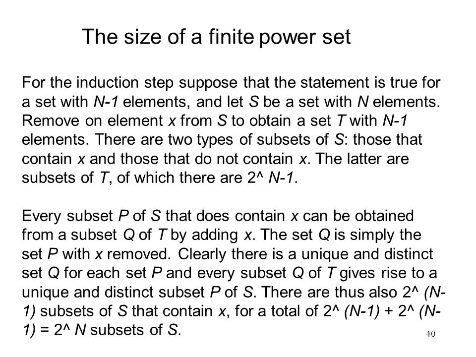 The size of a finite power set