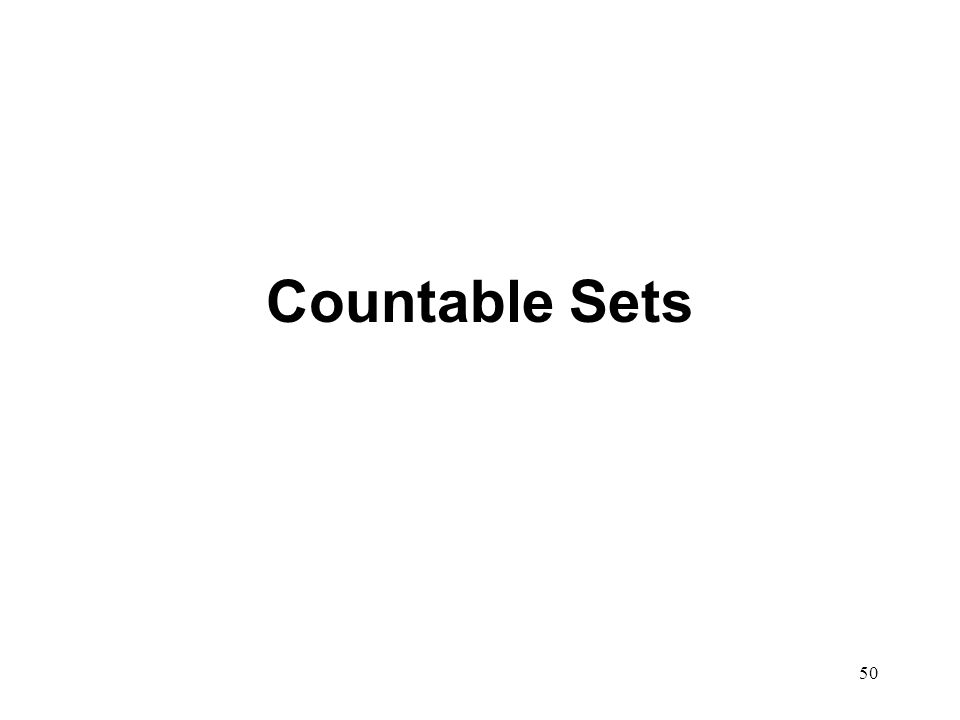 Countable Sets