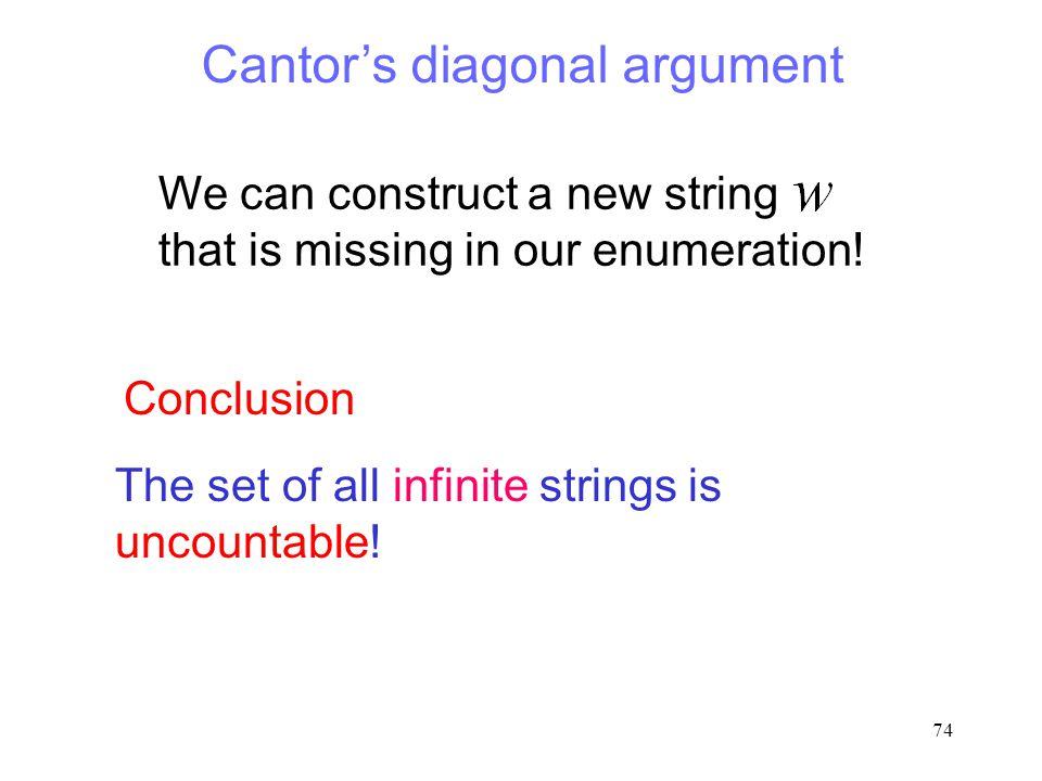 Cantor's diagonal argument