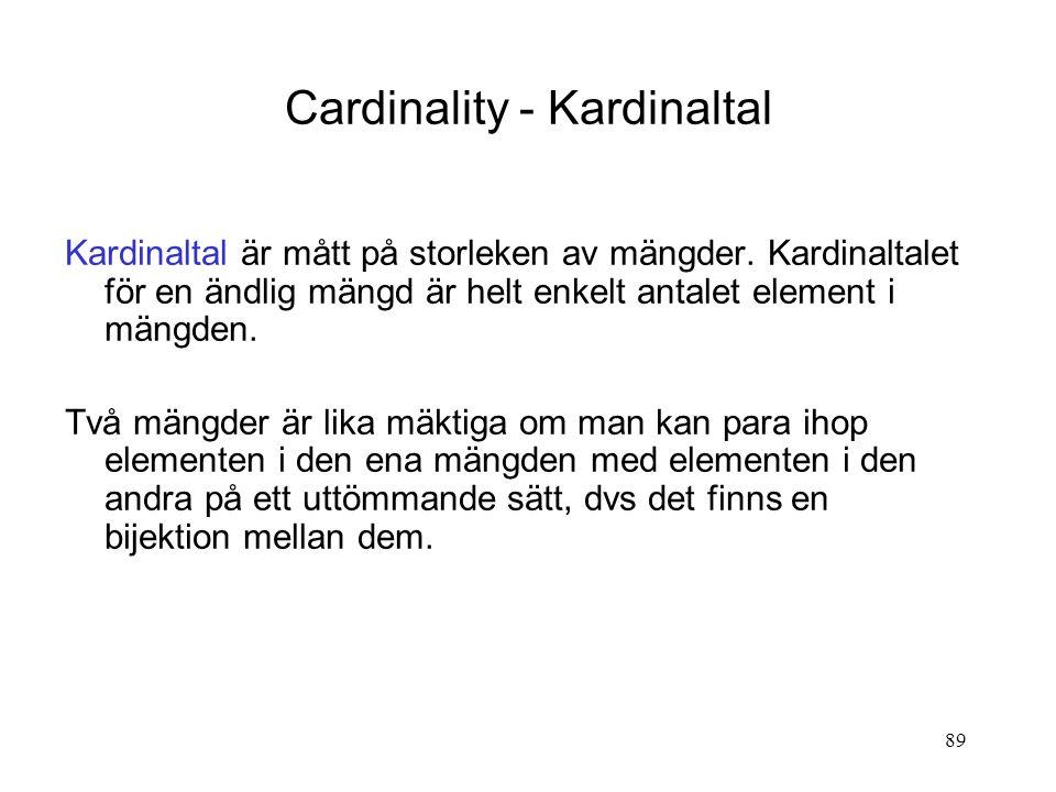 Cardinality - Kardinaltal