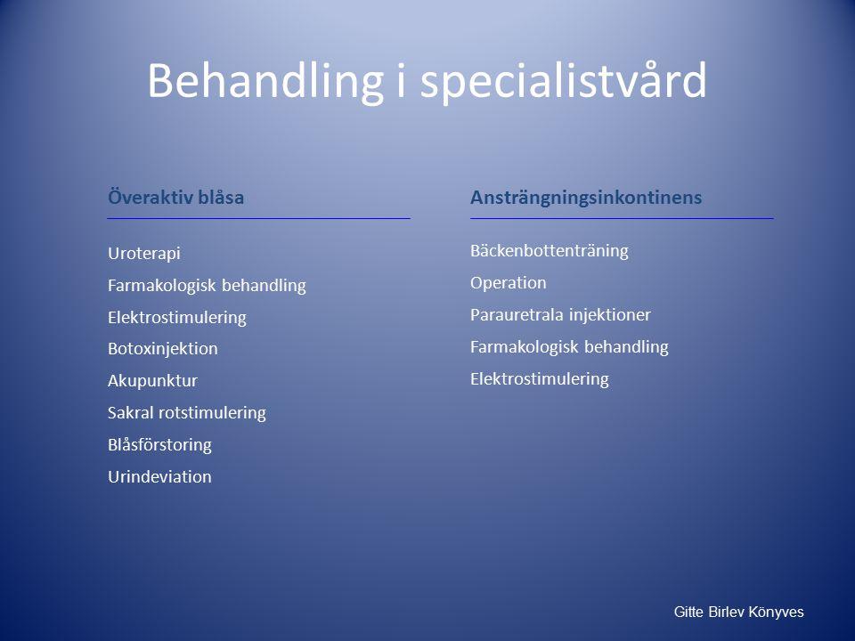 Behandling i specialistvård