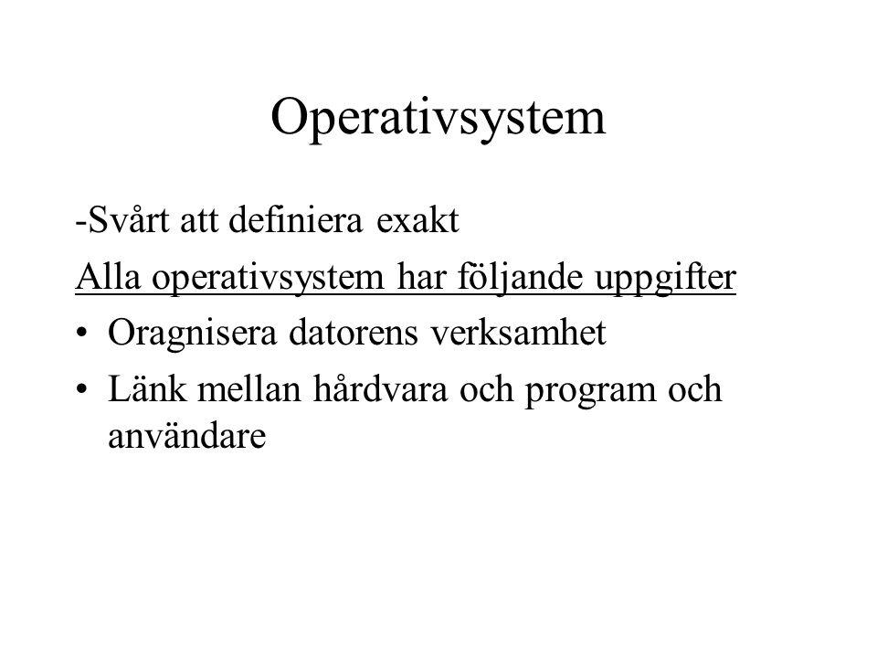 Operativsystem -Svårt att definiera exakt