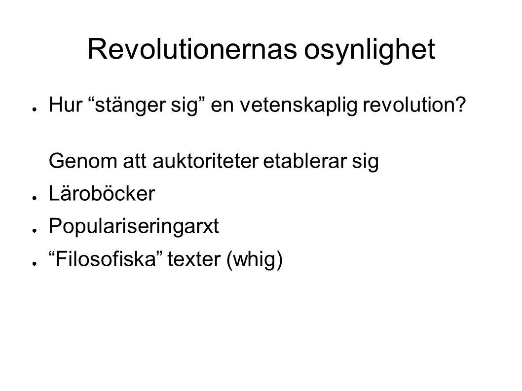 Revolutionernas osynlighet