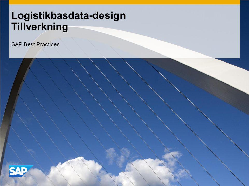 Logistikbasdata-design Tillverkning