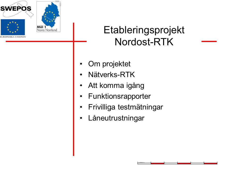 Etableringsprojekt Nordost-RTK