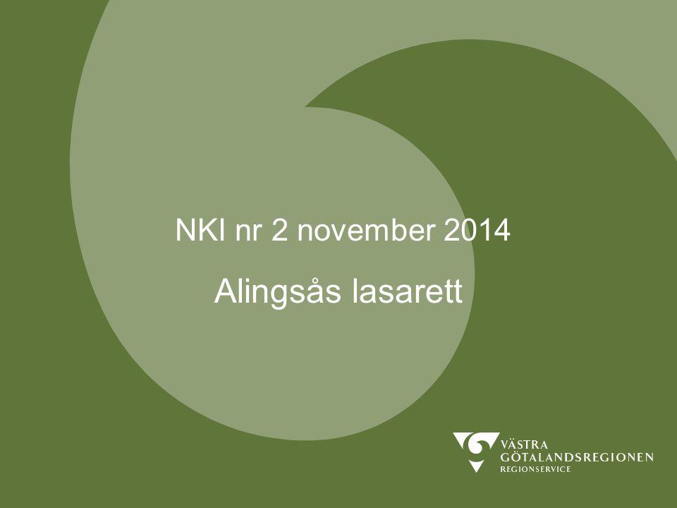 NKI nr 2 november 2014 Alingsås lasarett