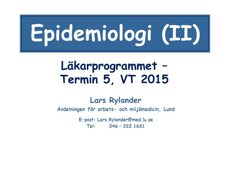 Läkarprogrammet – Termin 5, VT 2015