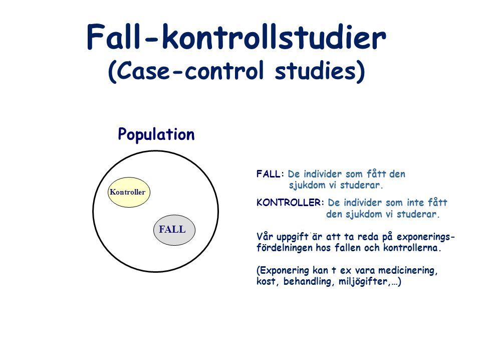 Fall-kontrollstudier (Case-control studies)