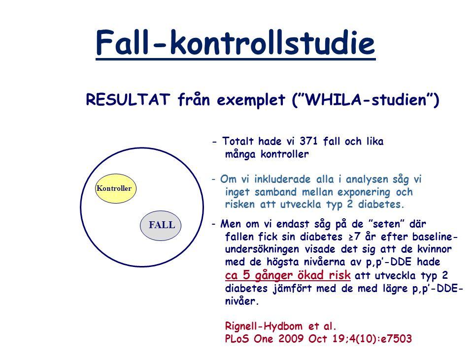 RESULTAT från exemplet ( WHILA-studien )