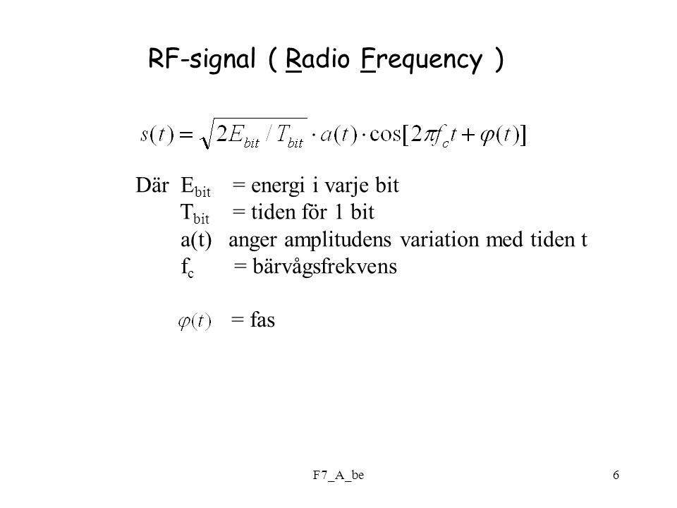 RF-signal ( Radio Frequency )