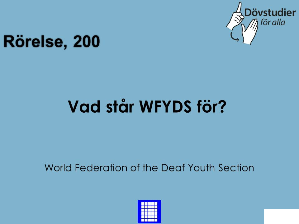 World Federation of the Deaf Youth Section