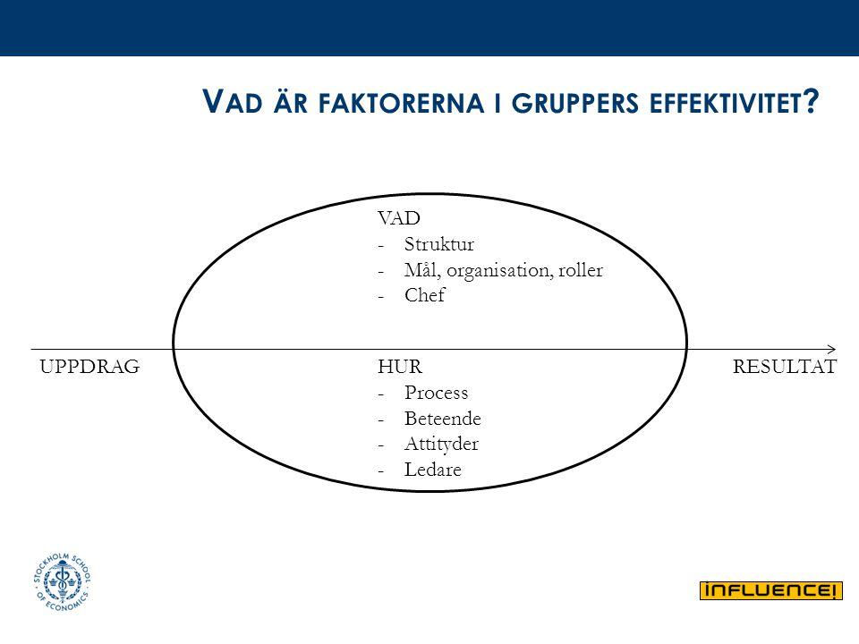 Vad är faktorerna i gruppers effektivitet