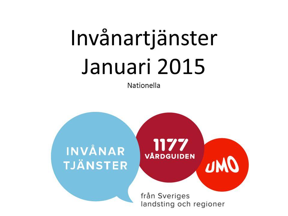 Invånartjänster Januari 2015 Nationella
