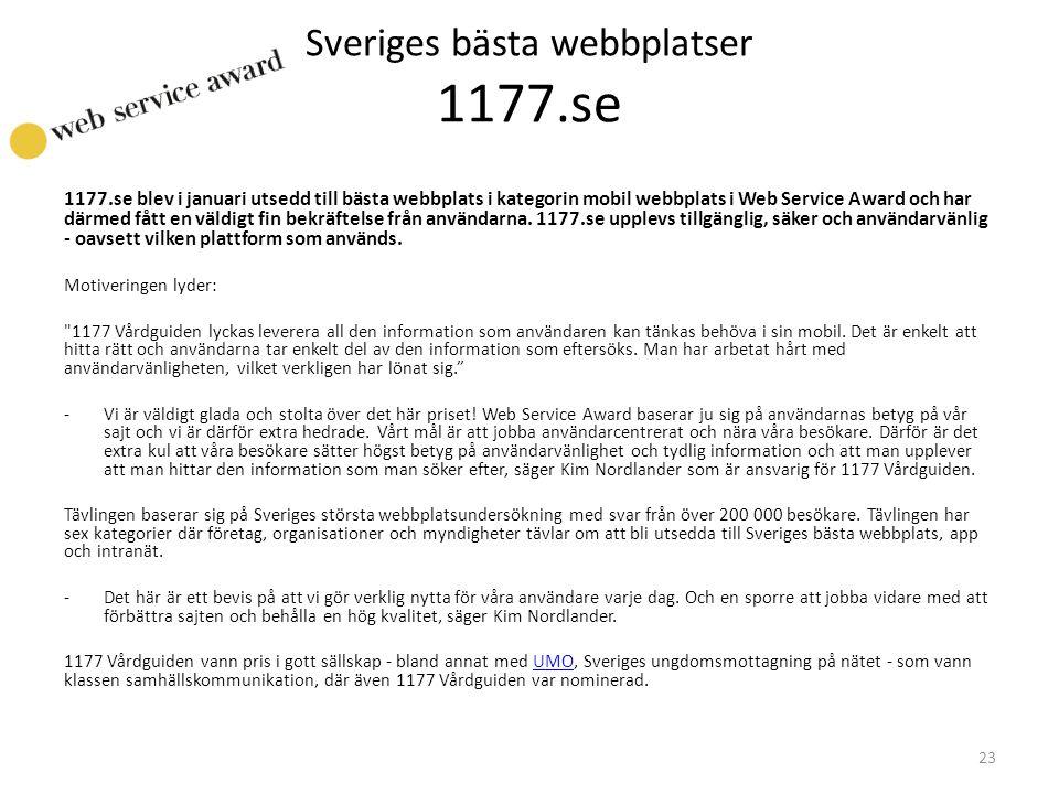 Sveriges bästa webbplatser 1177.se
