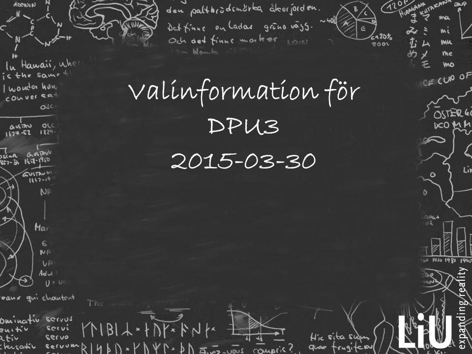 Valinformation för DPU3 2015-03-30