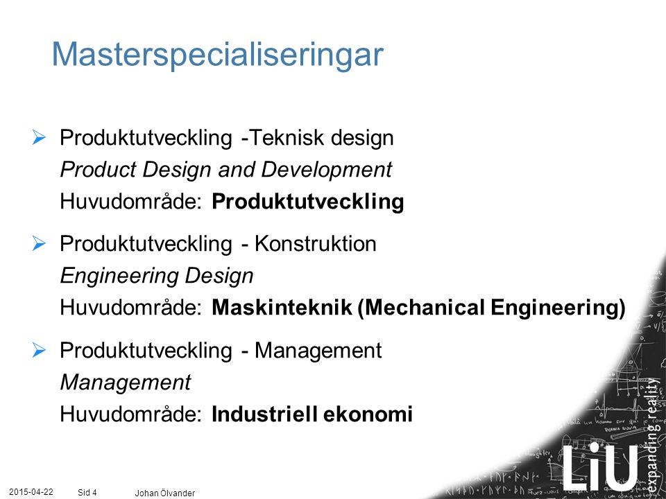 Masterspecialiseringar