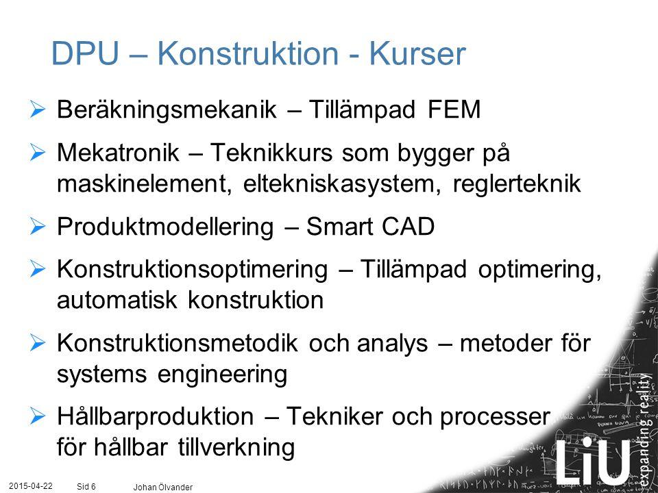DPU – Konstruktion - Kurser