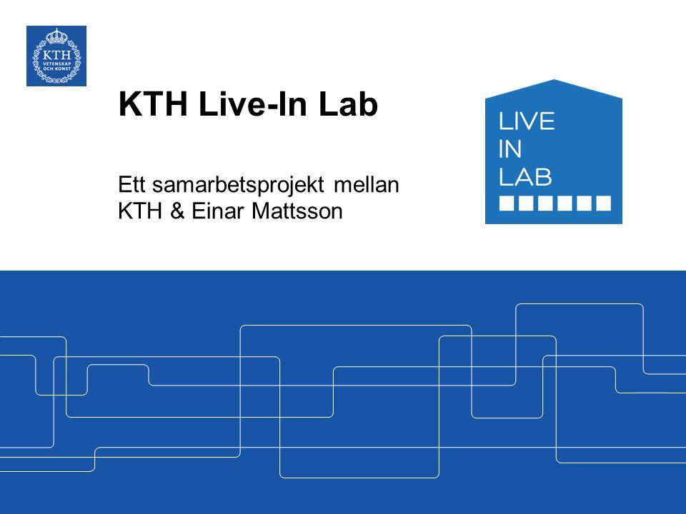 Ett samarbetsprojekt mellan KTH & Einar Mattsson