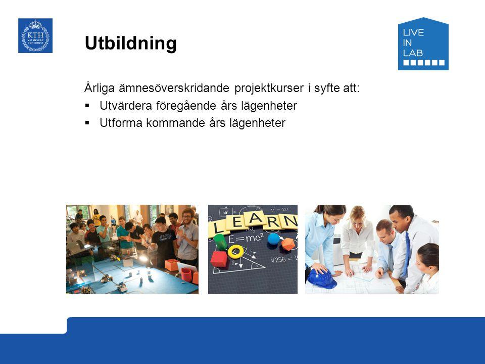 Utbildning Årliga ämnesöverskridande projektkurser i syfte att: