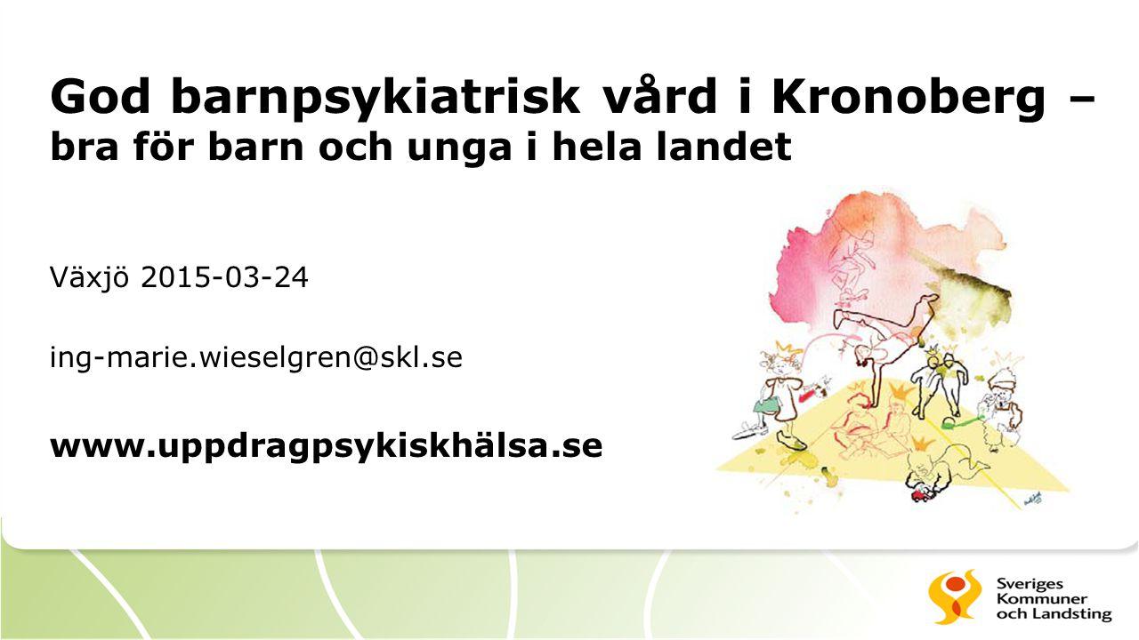 God barnpsykiatrisk vård i Kronoberg –