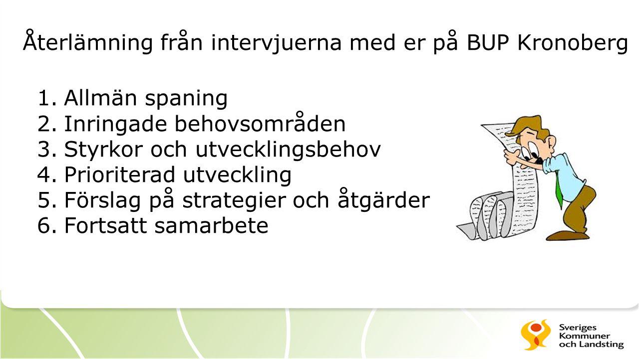 Återlämning från intervjuerna med er på BUP Kronoberg