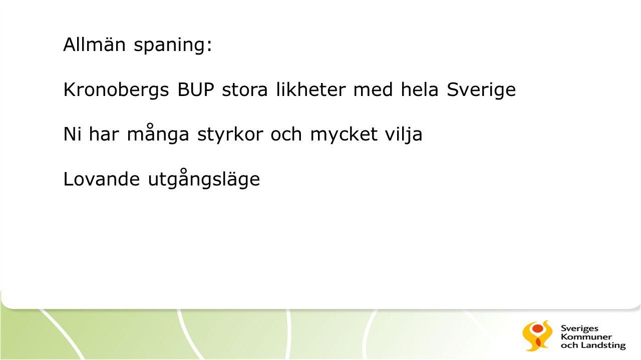 Allmän spaning: Kronobergs BUP stora likheter med hela Sverige. Ni har många styrkor och mycket vilja.