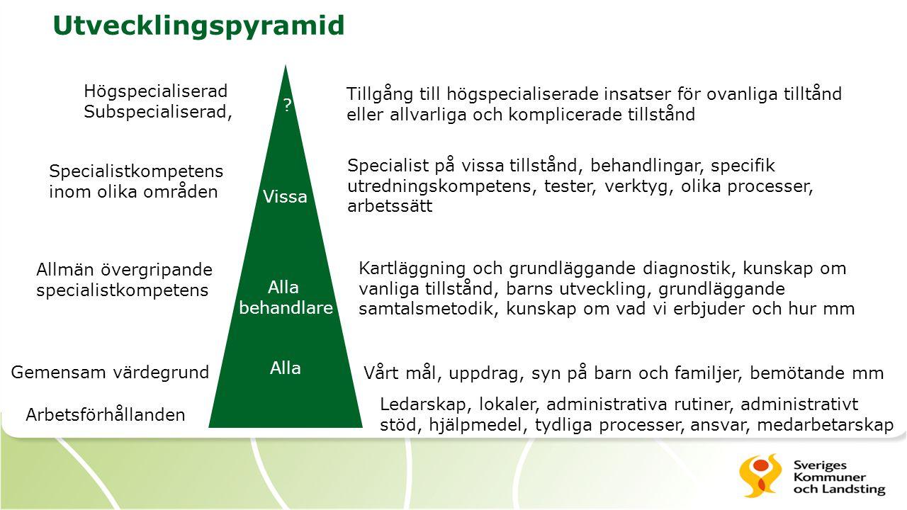 Utvecklingspyramid Högspecialiserad