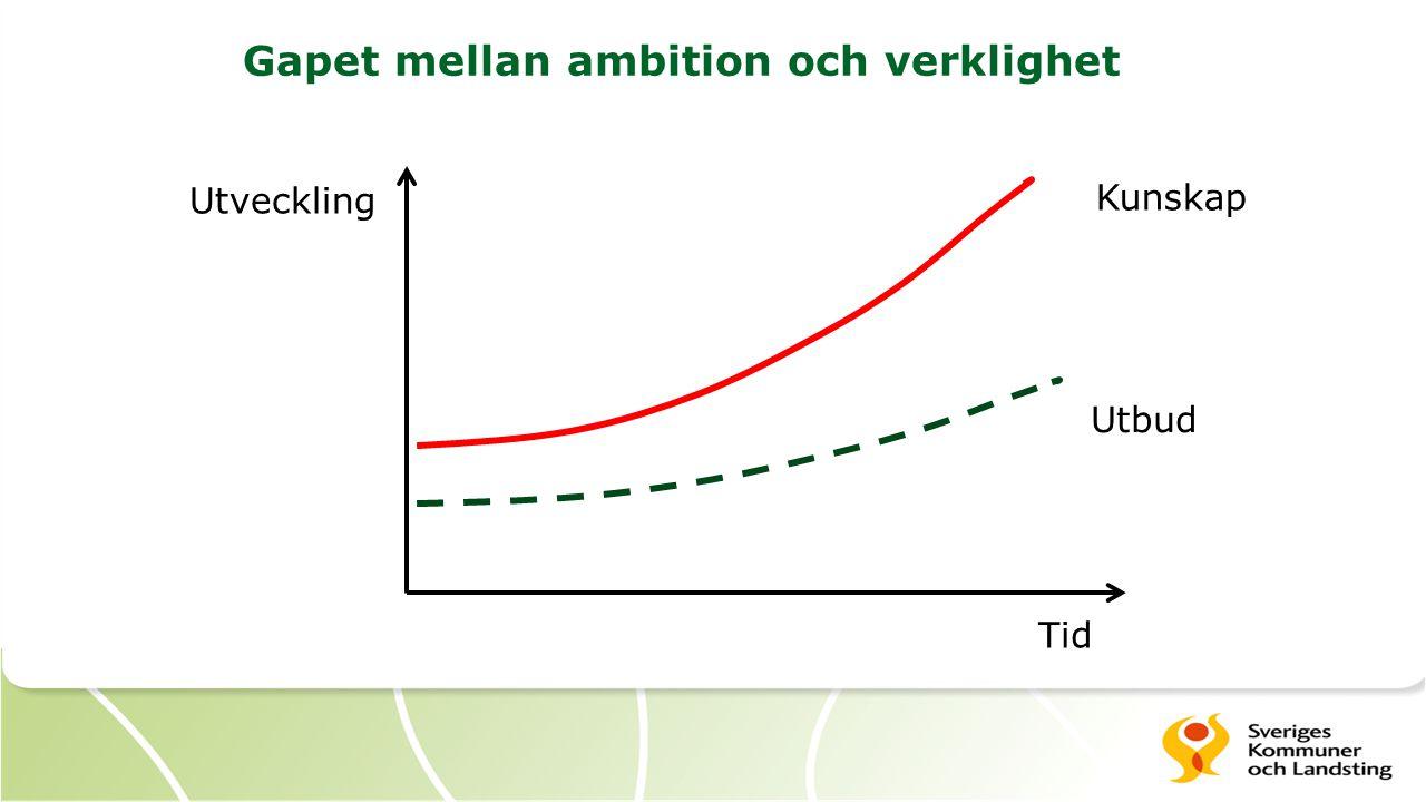 Gapet mellan ambition och verklighet