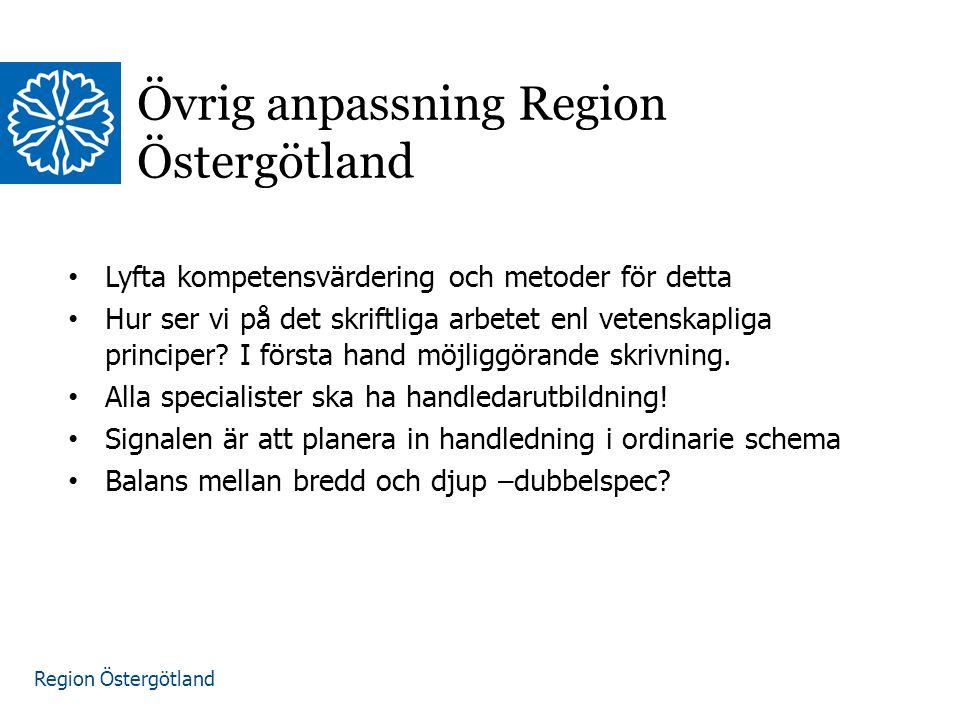 Övrig anpassning Region Östergötland