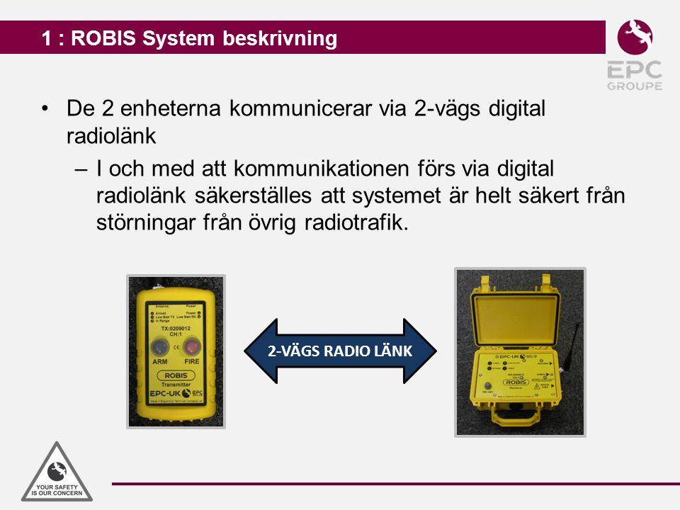1 : ROBIS System beskrivning