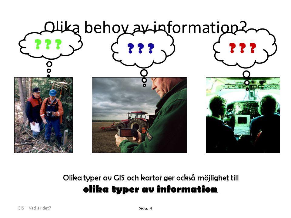 Olika behov av information