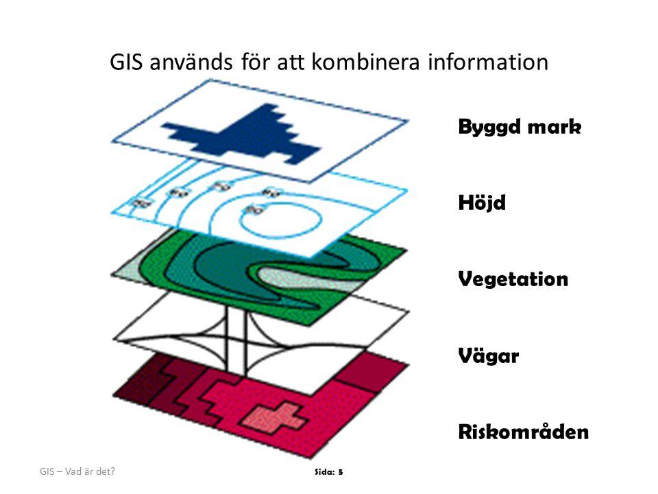 GIS används för att kombinera information