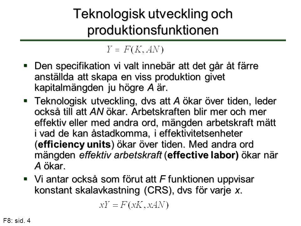 Teknologisk utveckling och produktionsfunktionen