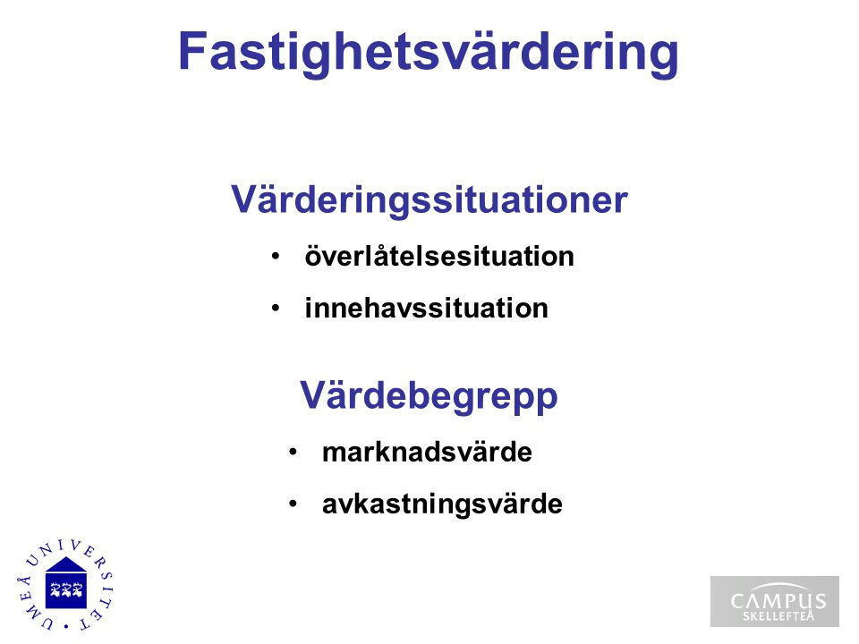 Värderingssituationer