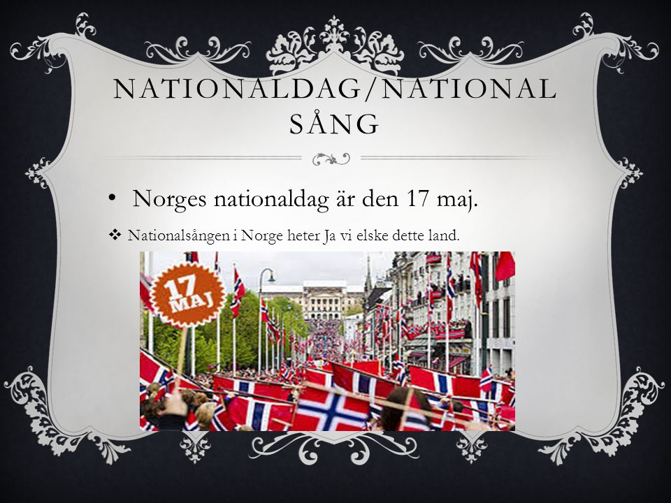 Nationaldag/Nationalsång