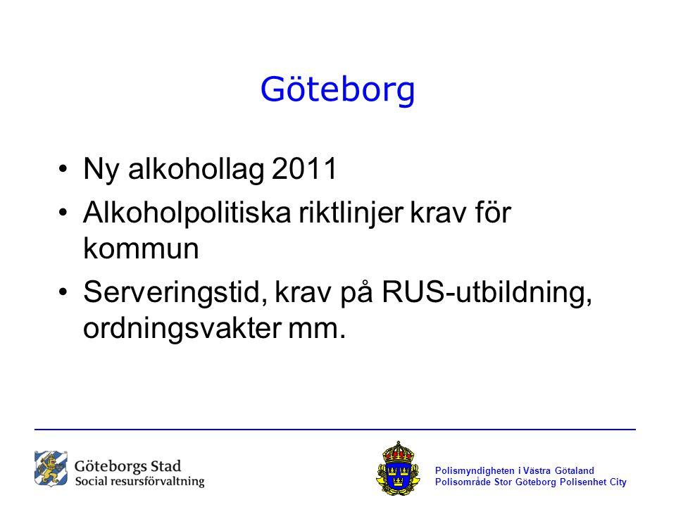 Göteborg Ny alkohollag 2011