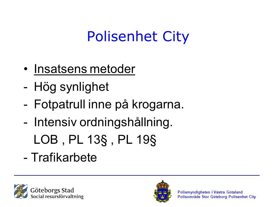 Polisenhet City Insatsens metoder Hög synlighet